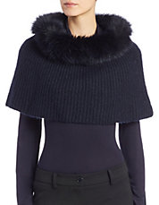 Fox Fur-Trimmed Snood