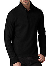 1/4-Button Mock-Turtleneck Pull-Over