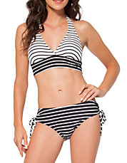 Marilyn Simple Stripe Swim Halter Bra