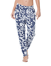 Floral Print Tapered Pants