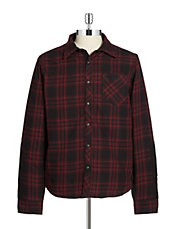 Plaid Button Down Utility Coat