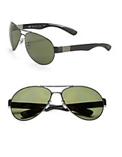 66mm Aviator Sunglasses