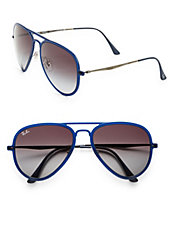 56mm Aviator Sunglasses