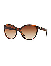 Havana Rounded Cat Eye Sunglasses