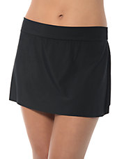 Solid Jersey Tennis Swim Skirt