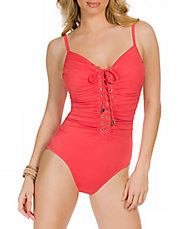 Lace-Up Victoria One-Piece Swimsuit