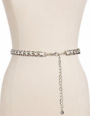 Leather Laced Chain Belt