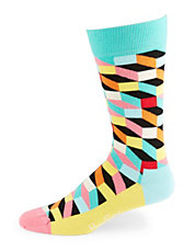 Geometric Patterned Socks