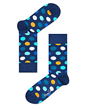 Dot Knit Crew Socks