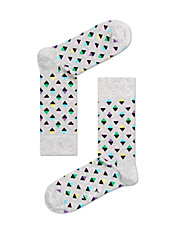Diamond Print Crew Socks
