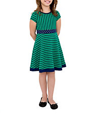 Girls 2-6x Embellished Striped Dress