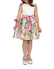 Girls 2-6x Belted Floral Dress