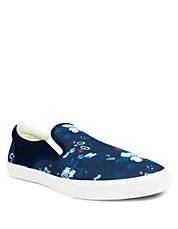 Royal Lagoon Canvas Slip-On Sneakers