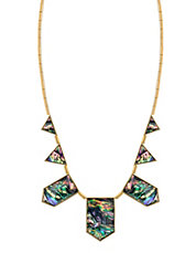 Abalone Geometric Collar Necklace