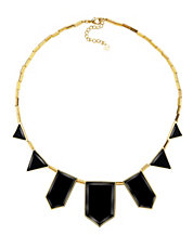 Black Geometric Station Necklace