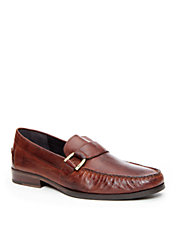 Nevil Leather Moc-Stitched Loafers