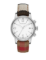 Mens Utilitarian Silvertone House Check Watch