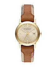 Ladies The City Watch with Leather and Haymarket Strap