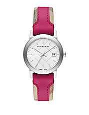 Ladies The City Fuchsia Mixed Media Watch