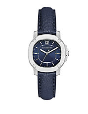 The Britain Blue Leather Strap Watch