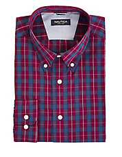 Slim-Fit Wrinkle-Resistant Plaid Shirt