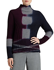 Merino Wool and Cashmere Tie-Dye Turtleneck