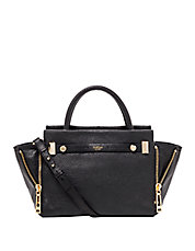 Leroy Leather Side-Zip Satchel