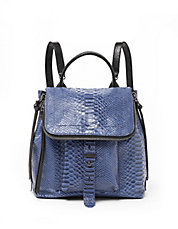 Warren Embossed Leather Backpack