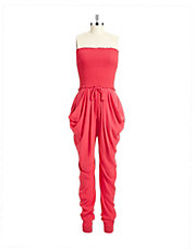 Sleeveless Silk Jumpsuit