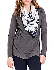 V Neck Top With Stretch Lining