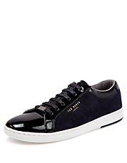 Yocob Patent and Suede Low Top Sneakers