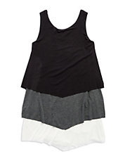 Girls 7-16 Tiered Mock Layer Tank