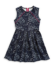 Girls 7-16 Lace Fit and Flare Dress