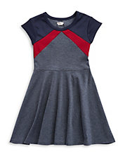 Girls 7-16 Colorblocked Fit And Flare Dress