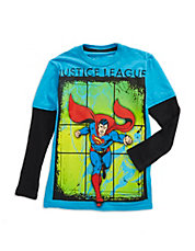 Boys 2-7 Superman Layer Tee