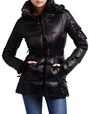 Powder Metallic Quilted Down Puffer Coat
