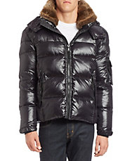 Convertible Faux Fur-Trimmed Puffer Jacket