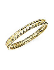 Outland Goldtone Bangle Bracelet