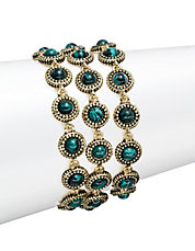 Three-Row Stone Bracelet
