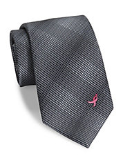 Susan G. Komen Gradient Checked Tie