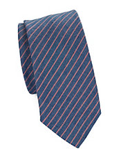 Striped Cotton-Rich Tie