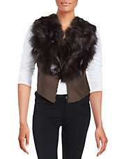 Fox Fur and Knit Vest
