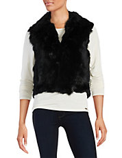Short Rabbit Fur Vest