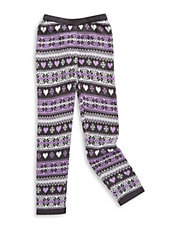 Girls 2-6x Fair Isle Patterned Leggings