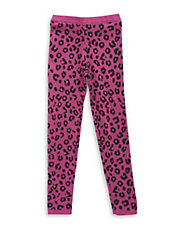 Girls 2-6x Leopard Print Knit Leggings