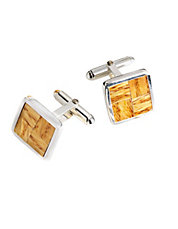 Authentic Boston Garden Parquet Floor Cufflinks