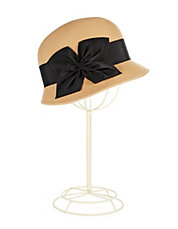 Cloche Hat with Bow Detail