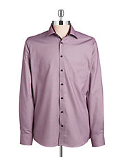 Contrast Trim Cotton Sportshirt