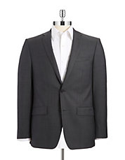 Wool Double Button Suit Jacket