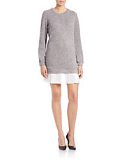 Contrast-Hem Sweatshirt Dress
